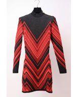 BALMAIN - JACQUARD KNIT DRESS
