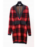 BALMAIN - TARTAN DRESS