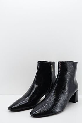 SAINT LAURENT - BOTTINES EN CUIR VERNI